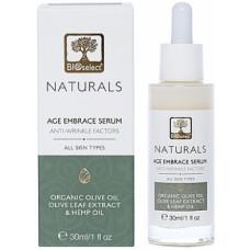 Антивозрастная сыворотка для лица и шеи с маслом конопли БиоСелект Naturals Age embrace serum hemp BIOSelect